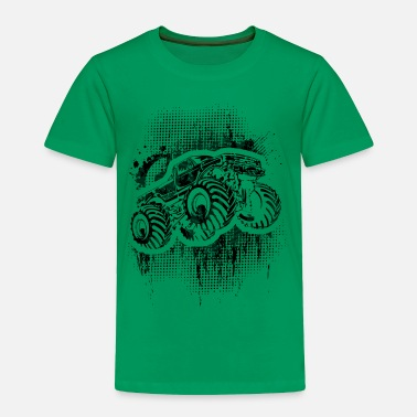 Monster Monster Truck Grungy blk - Toddler Premium T-Shirt