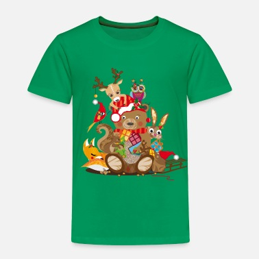 Christmas Animals celebrate Christmas - Toddler Premium T-Shirt