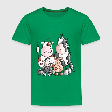 Animal Funny Farm Animals - Toddler Premium T-Shirt