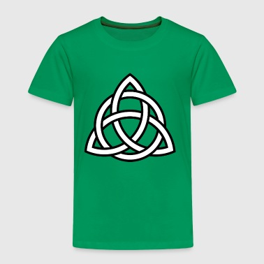Triquetra circle interlaced irish white black - Toddler Premium T-Shirt