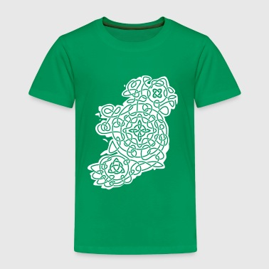 Ireland Celtic Map of Ireland - Toddler Premium T-Shirt