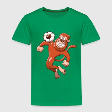 Monkey Trapping a Soccer Ball with its Chest - Toddler Premium T-Shirt