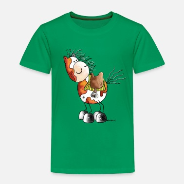 Western Riding Pinto - Horse - Western Riding - Cartoon - Toddler Premium T-Shirt