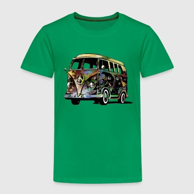 Hippie Van peace and love - Toddler Premium T-Shirt