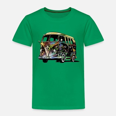 Hippie peace and love - Toddler Premium T-Shirt