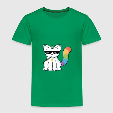weed smoking unicorn cat - Toddler Premium T-Shirt