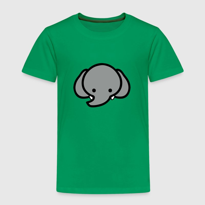 Cute Baby Cartoon Elephant Face - Toddler Premium T-Shirt
