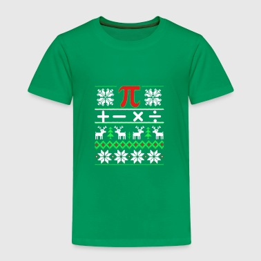 Math Ugly Christmas Sweater - Toddler Premium T-Shirt