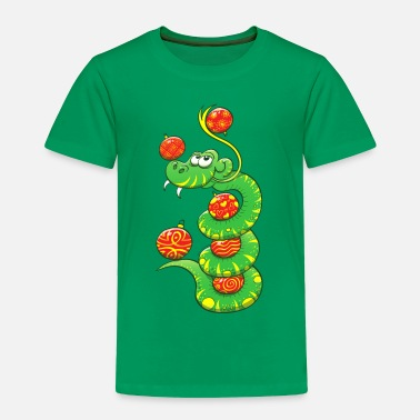 Bonus Christmas Snake - Toddler Premium T-Shirt
