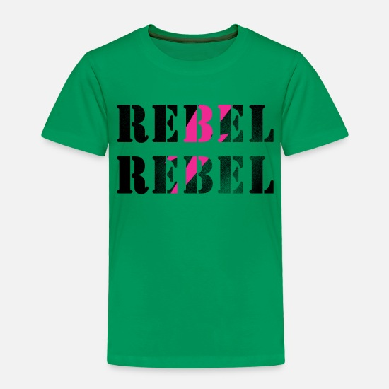 David Baby Clothing - REBEL REBEL #DAVID BOWIE - Toddler Premium T-Shirt kelly green