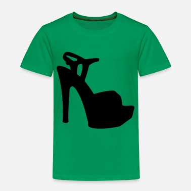 Highheeled Shoes Vector high heels shoes Silhouette - Toddler Premium T-Shirt