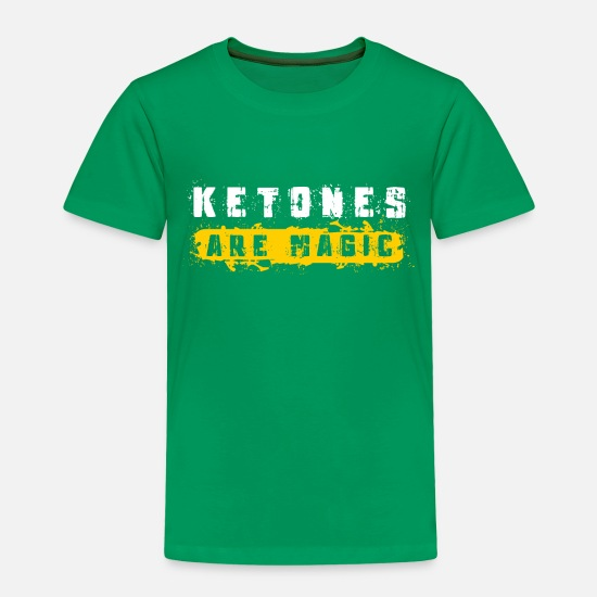 Avocado Baby Clothing - Keto weight loss gym gift ketones are magic ketosi - Toddler Premium T-Shirt kelly green