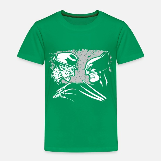 Freddy Baby Clothing - Freddy Krueger Vs Wolverine - Toddler Premium T-Shirt kelly green