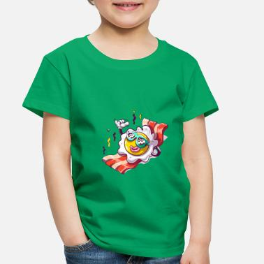 Beach Fried egg in beach funny sunglasses - Toddler Premium T-Shirt
