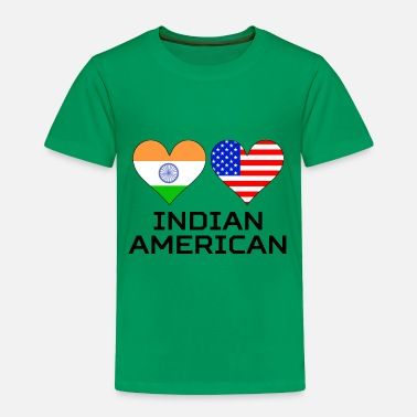 American Indian Indian American Hearts - Toddler Premium T-Shirt