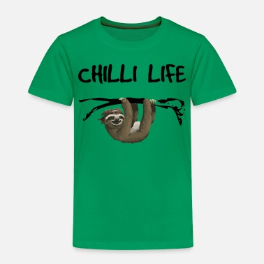 Easy Chilli Life sloth motif - Toddler Premium T-Shirt