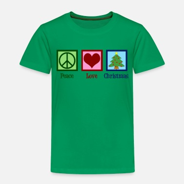 Peace Peace Love Christmas - Toddler Premium T-Shirt