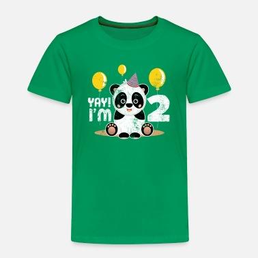 2nd Birthday Cute Panda Kid Boy Girl 2 Years Old