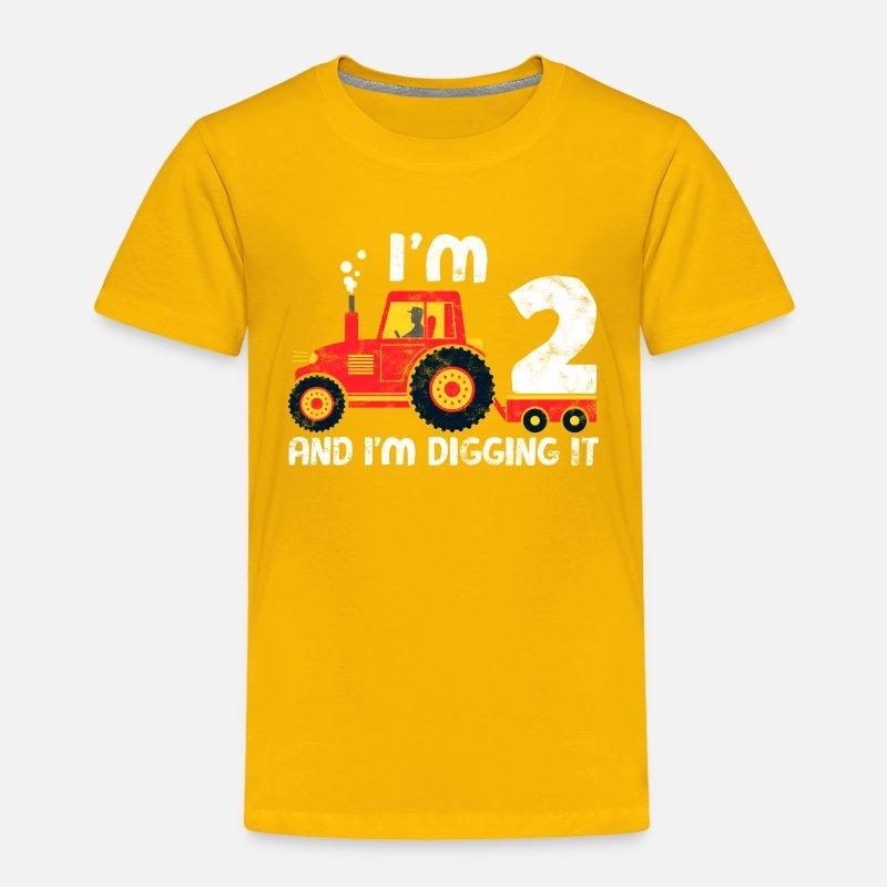 Cute 2nd Birthday Boy Farm Tractor Kid Age 2 Years By EasyTeezy