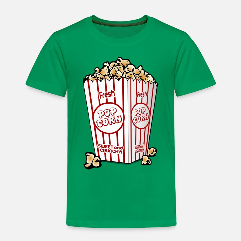 Popcorn Baby Clothing - Funny - Popcorn - Toddler Premium T-Shirt kelly green