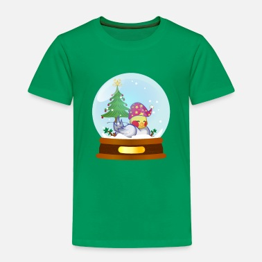 Christmas magic ball bird By lindezaDesign - Toddler Premium T-Shirt