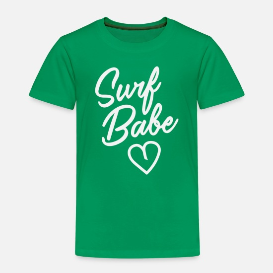 Movie Baby Clothing - Surf Babe - Toddler Premium T-Shirt kelly green