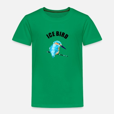 Bird Pretty kingfisher / Icebird motif with lettering - Toddler Premium T-Shirt