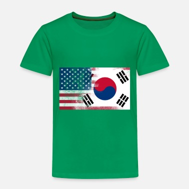 Korea Korean American Half South Korea Half America Flag - Toddler Premium T-Shirt