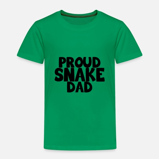 Rattlesnake Baby Clothing - proud snake dad - Toddler Premium T-Shirt kelly green