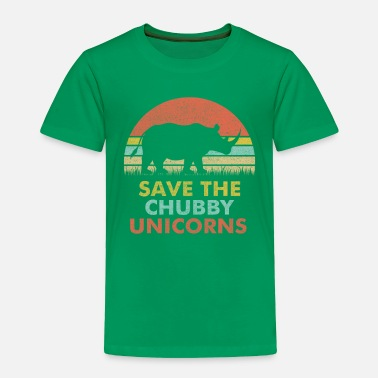Planet Save The Chubby Unicorns T Shirt Vintage Retro - Toddler Premium T-Shirt