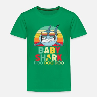 Retro Vintage Baby Sharks Tshirt gift for Father - Toddler Premium T-Shirt