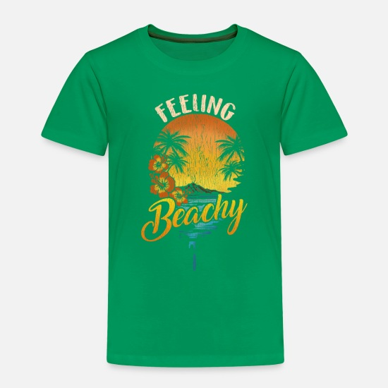 Majorca Baby Clothing - Beach Vacation Summer T-Shirt Hawaii Pool Party - Toddler Premium T-Shirt kelly green