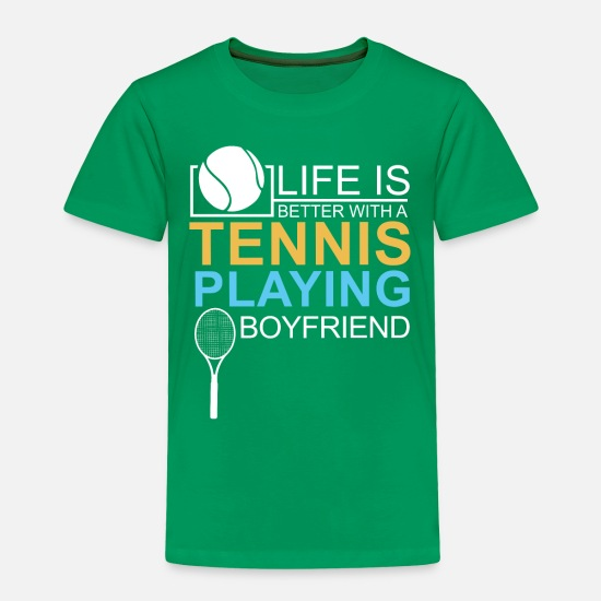 Funny Baby Clothing - Relationship Gift Tennis Badminton Girlfriend - Toddler Premium T-Shirt kelly green