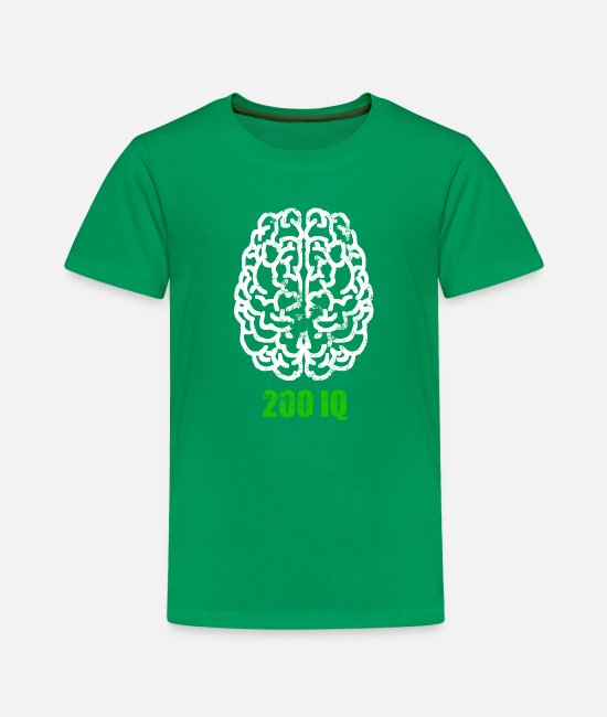 200 T-Shirts - 200 IQ Meme Gaming Stream Gamer gift - Toddler Premium T-Shirt kelly green