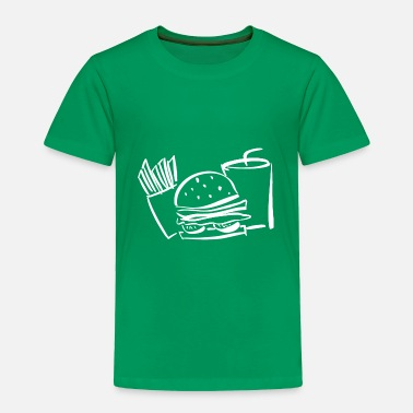 Tasty burger white hamburger hunger beef salad fast food - Toddler Premium T-Shirt