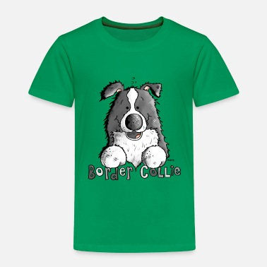 Funny Cartoon Sweet Border Collie - Dog - Dogs - Toddler Premium T-Shirt