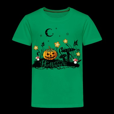 Halloween Horror, meadow with fly agarics, pumpkin - Toddler Premium T-Shirt