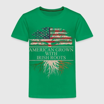 American grown with irish roots - Toddler Premium T-Shirt