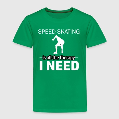 Speedskating is my therapy - Toddler Premium T-Shirt