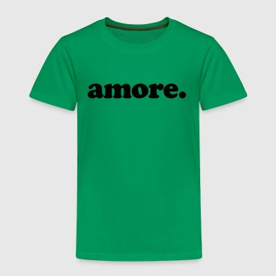 Amore - Fun Design (Black Letters) - Toddler Premium T-Shirt