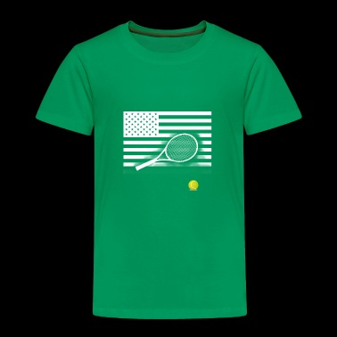 tennis america flag US Sport Team Match Ball - Toddler Premium T-Shirt