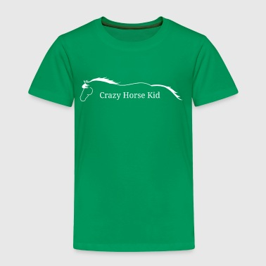Crazy horse kid, white logo - Toddler Premium T-Shirt
