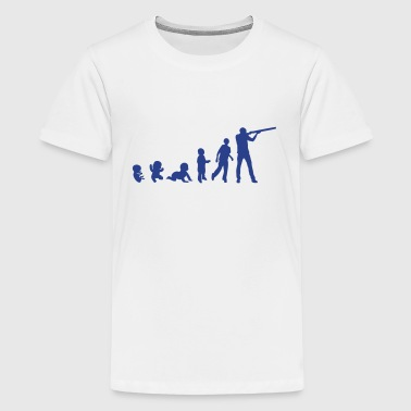 evolution skeet shoots man rifle - Kids' Premium T-Shirt
