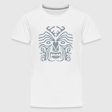Maori Funny maori tribal tattoo mask 9 ethnic mask - Kids' Premium T-Shirt