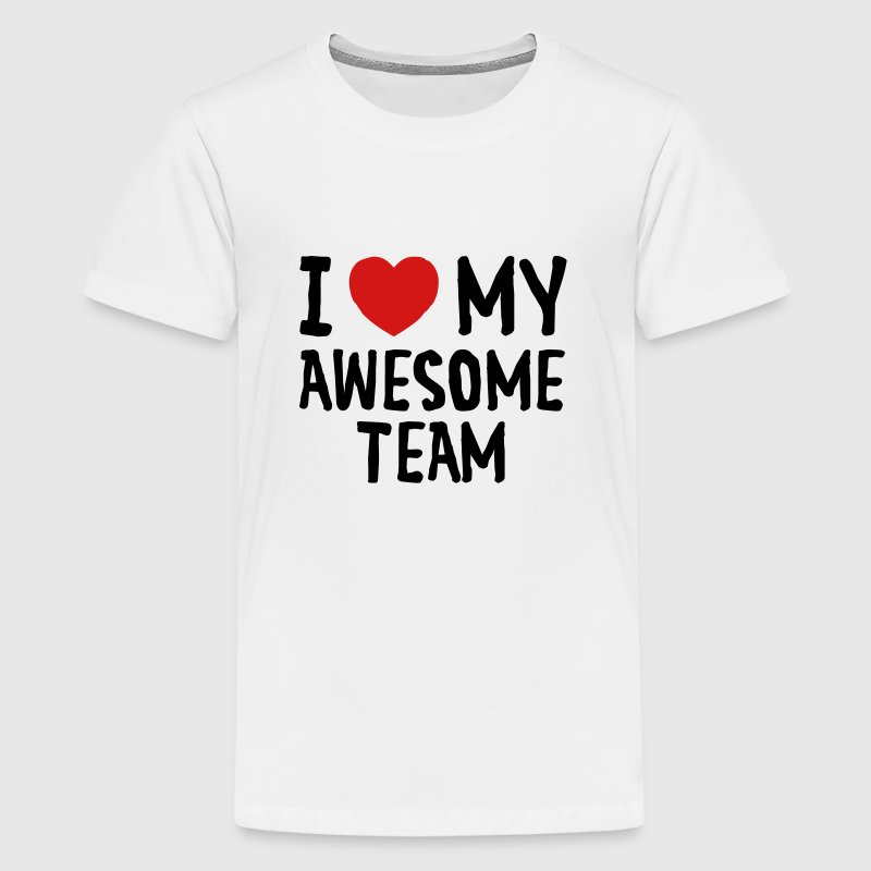 Love (Heart) My Awesome Team - Kids' Premium T-Shirt