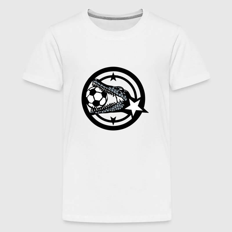 crocodile soccer club logo 402 - Kids' Premium T-Shirt