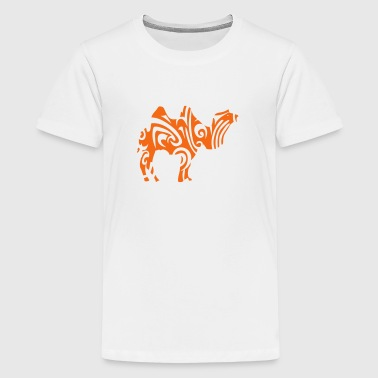 tribal camel wild animal designs - Kids' Premium T-Shirt