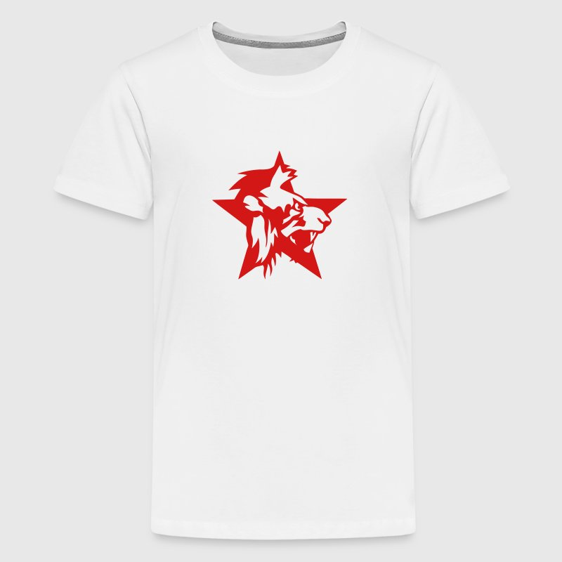4024 animal lion star logo 2 - Kids' Premium T-Shirt