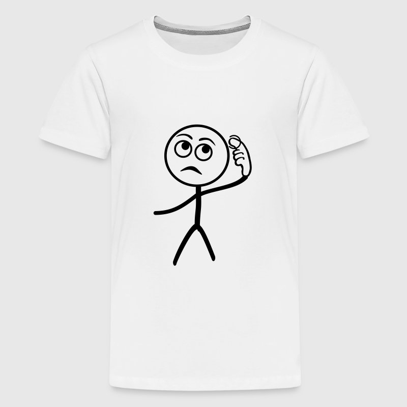 Stupid People, stickman - Kids' Premium T-Shirt
