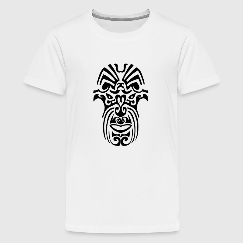 maori tribal tattoo mask 8 ethnic mask - Kids' Premium T-Shirt